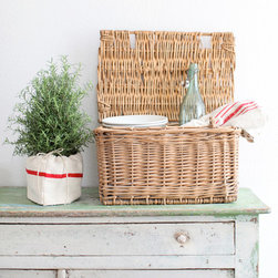 Vintage French Basket - This fantastic vintage French basket is a wonderful storage solution for hiding bread and snacks in the kitchen.