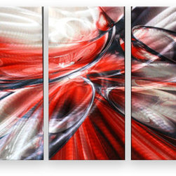 Matthew's Art Gallery - Metal Wall Art Abstract Modern Sculpture Red Bubbles - Name: Red Bubbles