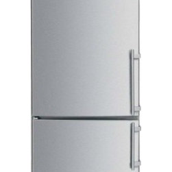 "Liebherr - CS1401 30"" Counter-Depth Bottom Freezer Refrigerator with 14.0 cu. ft.  Adjustab - This Liebherr counter-depth bottom freezer refrigerator has a capacity of 140 cu ft Dual variable speed compressors preserve foods better and are more energy efficient quieter and longer lasting The doors are reversible so you can choose which side y..."