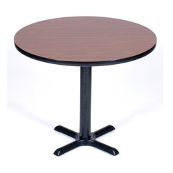 Correll Inc - Round Cafe Breakroom Top in Walnut (30 in./Ma - Finish: 30 in./MahoganyColumn and base not included. Pictured in Walnut. 24 in.. 30 in.. 36 in.. 42 in.. 48 in.. 60 in.