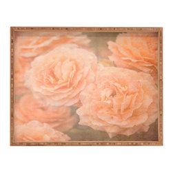 DENY Designs - Maybe Sparrow Photography Orange Floral Crush Rectangular Tray - With DENY's multifunctional rectangular tray collection, you can use it for decoration in just about any room of the house or go the traditional route to serve cocktails. Either way, you�ll be the ever so stylish hostess with the mostess!