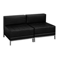 Flash Furniture - Flash Furniture Hercules Imagination Series 2-Piece Lounge Set - The imagination series offers modular pieces to create the room setup of your choosing. Go beyond the norm to create a functional area for your business. The design of the furniture allows it to transition perfectly from contemporary to a transitional setting. Purchase this complete set and add on any additional pieces now or later. [Z-BIMAG-MIDCH-2-GG]