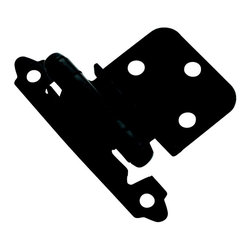 Amerock - Amerock Flat Black 0.375-inch Offset Face Mount Self Closing Hinges (Pack of 10) - Update your kitchen with quality Amerock cabinet hinges, featuring a flat black finish. These hinges come in a pack of ten and include installation instructions and installation screws.