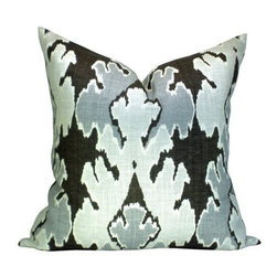 Ryan Studio - Bengal Bazaar Pillow - Kelly Wearstler's Bengal Bazaar fabric makes any room look hot! Custom made with down/feather inserts and gorgeously rich colors is an instant and stylish makeover for any room