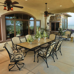 Outdoor dining table by O.W. Lee -