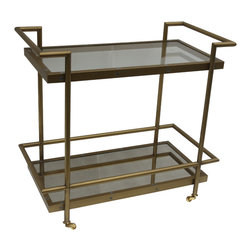 Bassett Mirror - Bassett Mirror Fouquet Tea Cart T2739-471EC - Bassett Mirror Fouquet Tea Cart T2739-471EC