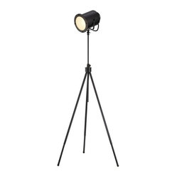 Apt2B - Director Floor Lamp - Lights, camera — wait, just lights. Get ready for your close-up with this set-style lamp. You could steer clear of the theme look by sticking this in a relaxed, modern living room, or if you've got a media room, it would be a cheeky touch, too.