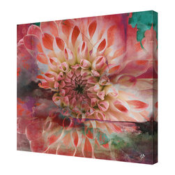 Ready2HangArt - Ready2hangart Alexis Bueno 'Painted Petals XXIX' Canvas Wall Art, 16 in. - The 'Painted Petals XXIX' canvas art print depicts an overexposed flower blossom, enhanced with bold strokes of color and various layers of texture. This ready to hang, gallery-wrapped canvas is a perfect modern accent to your home.