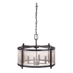 Zuo Modern - Zuo Modern Gabbro Ceiling Lamp in Antique Black Gold - Ceiling Lamp in Antique Black Gold belongs to Gabbro Collection by Zuo Modern Lamp (1)
