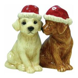 WL - 3.5 Inch Christmas Holiday Lab Puppies Salt and Pepper Shakers - This gorgeous 3.5 Inch Christmas Holiday Lab Puppies Salt and Pepper Shakers has the finest details and highest quality you will find anywhere! 3.5 Inch Christmas Holiday Lab Puppies Salt and Pepper Shakers is truly remarkable.