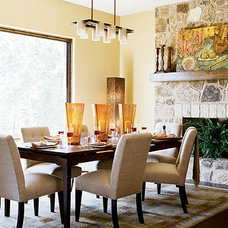 Eclectic Dining Room by Laura Britt Design