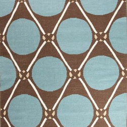 Jaipur - Jaipur En Casa by Luli Sanchez Flat-Weave Grid Dot 4' x 6' Dark Chocolate, Capri - This Hand Woven area rug would make a great addition to any room in the house. The plush feel and durability of this area rug will make it a must for your home.