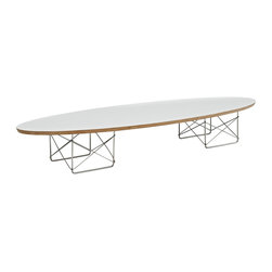 Fine Mod Imports - Modern Wire Wood Coffee Table with White Top - Features: