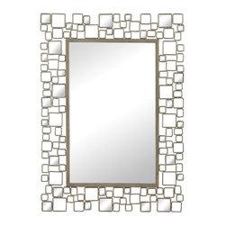 Sterling Industries - Sterling Industries 114-38 Alvis-Mirror Set In Metal & Antique Mirror Frame - Mirror (1)