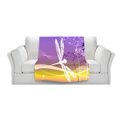 DiaNoche Designs - Fleece Throw Blanket by Angelina Vick - Flight Pattern II - Original Artwork printed to an ultra soft fleece Blanket for a unique look and feel of your living room couch or bedroom space.  DiaNoche Designs uses images from artists all over the world to create Illuminated art, Canvas Art, Sheets, Pillows, Duvets, Blankets and many other items that you can print to.  Every purchase supports an artist!