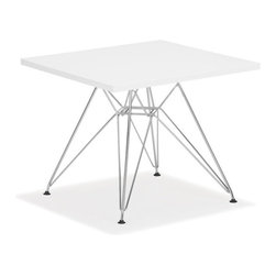 Zuo Modern - Zuo Wacky Table in White - Table in White belongs to Wacky Collection by Zuo Modern Include the Wacky children's table in every home today. With a MDF top and a chrome steel base, the Wacky table provides every child a place for reading, writing, and creating dreams. Table (1)