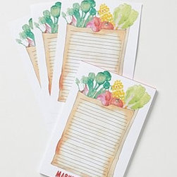 """Anthropologie - Magnetic List Notepad - Wood-free paper, glue6""""H, 9""""W60 lined pagesImported"""