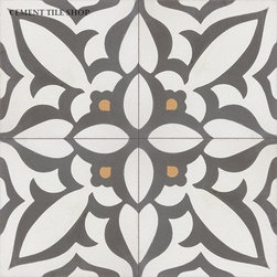 Contemporary Cement Tile - Zebra Charcoal Cement Tile from Cement Tile Shop