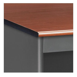 OFM - Mesa Series Single Pedestal Computer Desk with Center Drawer - Features: -Single pedestal desk with center drawer.-Mar-proof high pressure laminate surface.-Built-in floor glides.-Bull nose edge.-Full suspension glides.-Drawers and pedestal are not keyed alike.-Table tested to support 200 lbs. evenly distributed.-Mesa Series collection.-Designed and built for commercial use.-For more information on this product please view the Specification Sheet(s) below:.-Distressed: No.-Collection: Mesa Series.Dimensions: -Overall dimensions: 29.25'' H x 29.5'' W x 47.25'' D.-Overall Product Weight: 159 lbs.Assembly: -Specifications:.-Assembly required.