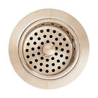 Metal Adjustable Sink Strainer Drain in Satin Nickel