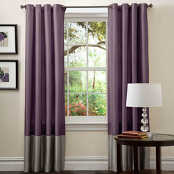 Lush Decor - Prima Gray/Purple Window Curtain, Set of Two - - Perfect for any room, these Prima window panels feature a classy, simple design. Metal Grommets slides onto curtain rod for installation. Full lining provides extra insulation and privacy. Includes: 2 panels  - Size - 54X84  - Includes: 2 Window Panels  - Top Pocket - Metal Grommet  - Non-Weighted  - Additional Hardware Necessary - Rod  - Panel: 54x84  - Fabric Content:100% Polyester  - Care Instructions: Comforter/bed skirt/shams: dry clean * Pillows: spot clean  Lush Decor - C00977Q12