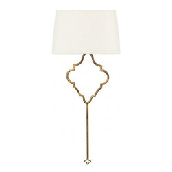 """Aidan Gray - Aidan Gray Quatrefoil Sconce - The Quatrefoil Sconce is from Aidan Gray, a line that represents a love for interiors, design and authentic products that exude """"European Grandeur."""" The founding partners' desire for products made by hand and with authentic materials such as solid wood, rustic metals, antique mirror, old painted finishes and silk appointments drives product development. Aidan Gray has become known for exceptional quality and detail oriented products."""
