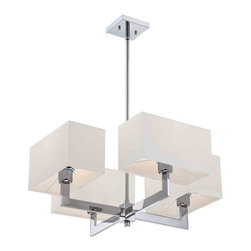 Quoizel Lighting - Quoizel REM5004C Remi Polished Chrome 4 Light Chandelier - 4, 75W A19 Medium