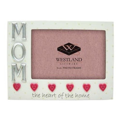 WL - 4 x 6 Inch Mom Heart of the Home White and Red Hearts Photo Frame - This gorgeous 4 x 6 Inch Mom Heart of the Home White and Red Hearts Photo Frame has the finest details and highest quality you will find anywhere! 4 x 6 Inch Mom Heart of the Home White and Red Hearts Photo Frame is truly remarkable.