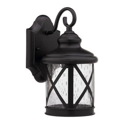 None - Transitional Dark Bronze 1-Light Outdoor Wall Sconce - Bring a sense of elegance and refinement to your outdoor decor with this transitional dark bronze one-light wall sconce. This fixture is corrosion resistant and weatherproof.