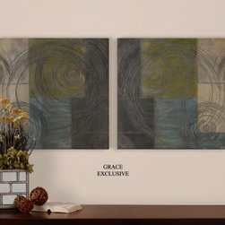 "35220 Etched Circles I, II, S/2 by uttermost - Get 10% discount on your first order. Coupon code: ""houzz"". Order today."