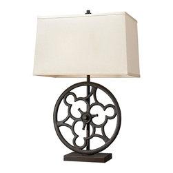 Dimond Lighting - 65112-2-LED Ironton Table Lamp, Vintage Rust - Traditional Table Lamp in Vintage Rust from the Ironton Collection by Dimond Lighting.