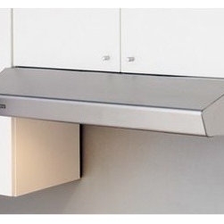 Zephyr 24W in. Breeze I Under Cabinet Range Hood - Sleek and refined, the Zephyr 24W in. Breeze I Under Cabinet Range Hood has a modern, chic look sure to turn some heads. This elegant range hood not only looks great but operates quietly while moving up to 300 cubic feet of air a minute. Just choose between 3 fan speeds to suit your cooking needs. For your convenience, the reliable aluminum mesh filters pop out with ease for a quick cleaning in the dishwasher. If it's a bit dim in your kitchen the pair of integrated lamps flip on with two brightness levels.About ZephyrSince 1997 Zephyr has remained true to their vision of delivering the unexpected. Founder Alex Siow embraced the idea that a kitchen hood could do much more than vent air, it could be as distinctive in its design as in its performance. Zephyr was first to recognize the demand for powerful, professional-grade hoods for the home that were also beautiful. They answered the call with their Power Series of high CFM range hoods that put air quality concerns to rest with quiet efficiency. Zephyr raised the bar with self-cleaning, filter-free technologies. Their solid reputation for well-construction, high-powered range hoods is matched by their style and design. Fashion-forward and inspired, their lines of range hoods include original works from renowned designers Robert Brunner, Fu-Tung Cheng, and David Lewis.