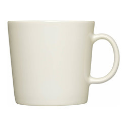 Iittala - Teema Mug, White, Large - Pick your favorite color and fill your mug with the beverage of your choice. Whether it's coffee or tea, you'll love starting your morning with these modern ceramic mugs. When you're fully caffeinated, simply place them in the dishwasher for easy cleanup.