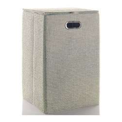 Gedy - Rectangular Laundry Basket in Grey or Moka - Add this designer, contemporary laundry hamper to your already modern & contemporary bath. Made in high-end raffia and nylon and available in grey or moka. This floor standing laundry hamper is manufactured in Italy by Gedy and is from the Gedy Lavanda collection. Designer grey or moka laundry hamper. Modern & contemporary floor standing laundry hamper. For modern & contemporary settings. From the Gedy Lavanda collection. Manufactured in Italy.