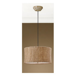 Uttermost - Uttermost 21935 Country / Rustic 3 Light Pendant with Natural Twine Shade from t - Uttermost 21935 Uttermost Lighting Burleson 3 Lt Hanging ShadeNatural twine with an open weave construction and a beige inner liner creates a rustic yet unique appeal. Frosted glass diffuser included.Features: