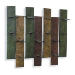 Southern Enterprises Inc. - Metal Wine Storage Rack - Metal wine storage rack is a unique way to display your favorite wine bottles. Each panel in a rich, warm color holds a wine bottle.