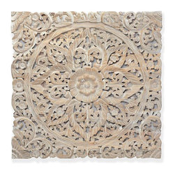Z Gallerie - Sanctuary Panel - I love using large wood elements, and this Sanctuary panel has such a warm feel. Placed on a wall in a room with soft slipcovered furniture, it would lend a great feel to a more modern living style.