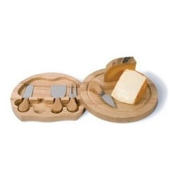 Franmara - 5 Piece Wooden Swivel Cheese Board Set with 4 Cheese Knives, Small - This gorgeous 5 Piece Wooden Swivel Cheese Board Set with 4 Cheese Knives, Small has the finest details and highest quality you will find anywhere! 5 Piece Wooden Swivel Cheese Board Set with 4 Cheese Knives, Small is truly remarkable.