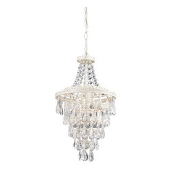 Sterling Industries - Sterling Industries 122-002 1 Light 1 Tier Empire Chandelier with Crystal Insets - Features: