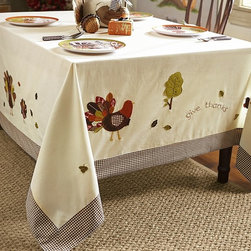 Thanksgiving Tablecloth - Wouldn't this be cute for a kids' table or a holiday breakfast?