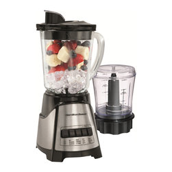 Hamilton Beach - Hamilton Beach 58149 Black Blender/ Food Chopper - Get two kitchen appliances in one easy package with this convenient Hamilton Beach blender and food chopper. This multipurpose tool features four settings that allow you to easily blend or chop fruit, nuts, smoothies and much more.