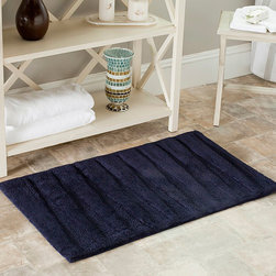 Safavieh - Spa 2400 Gram Journey Navy 27 x 45 Bath Rug (Set of 2) - Turn any bathroom into a spa with an ultra luxurious extra dense bath rug. Bath rug measures 27 inches high x 45 inches wide and this item comes in a set of two.