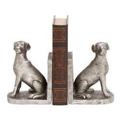 BZBZ78811 - Hoary Shiny Dog Bookend - Hoary Shiny Dog Bookend. This book end will take care of your books from falling here and there and manage them in a row efficiently. Some assembly may be required.
