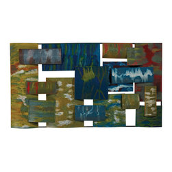 Sterling Industries - Sterling Industries 138-062 Broward-Contemporary Hand Painted Metal Wall Collage - Wall Panel (1)