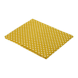 Bacati - Yellow Pin Dots Crib fitted sheet - Bacati - Yellow Pin Dots Crib Fitted Sheet made from 100 % cotton percale fabric. It has a pearl string print on white background. Crib sheet has reinforced corners and elastic all around for secure fit. It is machine washable and gets softer with every wash. It coordinates well with Bacati Dots/Pin Stripes Grey/Yellow bedding collection. Cotton is a green fabric as it is renewable resource & biodegradable. Cotton is breathable making it more comfortable in extreme climates. Cotton is inherently soft delicate on skin of babies, durable & user friendly. Cottons gentle quality makes it appropriate for Babies with very sensitive skin or skin allergies.