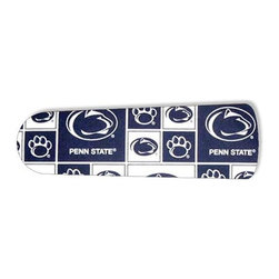 """Penn State Nittany Lions 42"""" Ceiling Fan BLADES ONLY - These are beautiful custom blades for your home. This is a set of 4 brand new high quality designer ceiling fan blades. The surface is easy to clean with a damp cloth. These are universal for 42"""" fans. Double the measurement from the center of the fan to the tip of one blade. Several different mediums are used, all are non-toxic. You can be confident that this product will last for years to come. You'll love showing off your new unique blades. These are not licensed products, but are made with licensed materials."""
