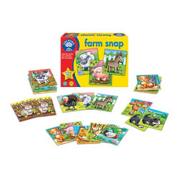 The Original Toy Company - The Original Toy Company Kids' Farm Snap - Play snap or pairs with this fun first card game, 48 sturdy cards with a farm animal theme. Ages 3-6. Players 2-4. Made in England.