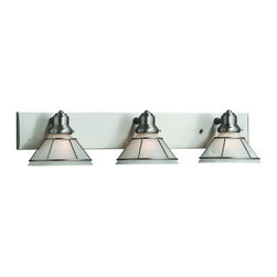 Dolan Designs - Dolan Designs 633-09 Craftsman Satin Nickel 3 Light Vanity - Dolan Designs 633-09 Nickel Bath Lighting