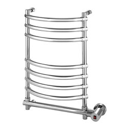 Mr. Steam - Mr. Steam Wall Mounted 8-Bar Electric Towel Warmer, Polished Chrome (W634PC) - All Mr.Steam series 500 and 600 towelwarmers models use only all-brass construction. Electric heated models have a stainless-steel heater for controlled, quiet heat. Hydronic hot water models are heated using the house's closed-loop hot water heating system. Mr.Steam towelwarmers come in a variety of wall, pivoting, and floor models, each produced from high quality brass for strength and durability of the finish, and are available in designer bathroom finishes to blend with any bath decor.