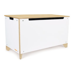 P'kolino - P'kolino Little Modern Toy Box - At home in any room of the house this chest is a stylish and smart place for all your little one's things. Clean modern lines, diagonal leg design, real wood details, ample storage and dual safety hinges make this storage chest distinctively P'kolino.